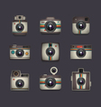 4363d retro camera setVS vector image vector image