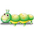 A green caterpillar toy vector image vector image