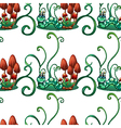 A seamless design with worms in a garden vector image vector image