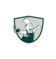 Asian Chef Serving Noodle Bowl Dancing Crest vector image vector image