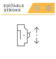 automatic circuit breaker line icon vector image vector image