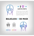 balaclava isolated icon ski mask vector image