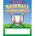 Baseball Tournament Flyer vector image