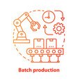 batch production red concept icon manufacturing