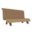 bench park vintage isolated background wooden old vector image vector image