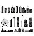 big city set elements building vector image