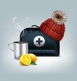 black medicine chest vector image