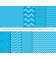 blue seamless website wavy line patterns vector image
