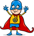 boy in hero costume cartoon vector image vector image