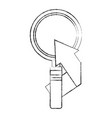 business success arrow magnifying glass vector image vector image