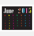 Calendar June 2015 vector image