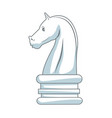 chess knight strategy icon suitable for info vector image vector image
