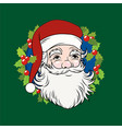 christmas decoration - vintage santa claus vector image vector image