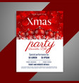 christmas party flyer with red balls and copyspace vector image vector image