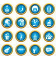 circus entertainment icons blue circle set vector image vector image