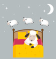 Counting sheep to fall asleep