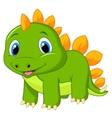 Cute baby stegosaurus cartoon vector image vector image