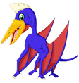 Cute pterodactyl cartoon for you design vector image
