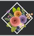 design craft paper flowers vector image vector image