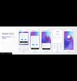 design mobile application ui ux set of vector image vector image