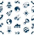digital space galaxy and universe icons vector image