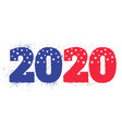 election 2020 like american flag vector image vector image