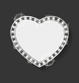 empty banner in form heart romantic frame vector image vector image