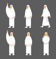 female activity figure hajj pilgrims character set vector image vector image