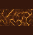 fiery orange hairs background magic grass vector image