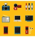 Flat icon set Device vector image vector image