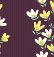 Flower pattern Spring hand-drawn doodle vector image