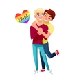 Funny gay couple vector image vector image