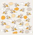 funny mosquitoes texture children vector image