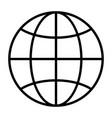 globe line icon simple minimal 96x96 pictogram vector image vector image