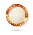 gold round frame cinema vector image vector image