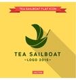 green ship leaf logo vector image vector image