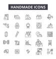 handmade line icons signs set outline vector image vector image
