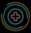 healthcare plus sign - medical cross symbol vector image