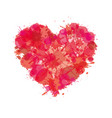 heart watercolor paint splatter love icon vector image vector image