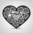 heart with mandala boho style vector image