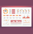 infographics dashboard modern ui with statistics vector image