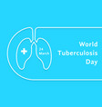 linear world tuberculosis day card vector image vector image