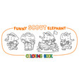 little baby elephant scout coloring book set