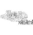 margarita word cloud concept vector image vector image