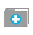 medical health record folder for wellness vector image vector image