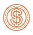 neon money symbol icon vector image vector image