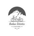 outdoor activities logotype vector image vector image