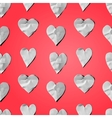 paper hearts - seamless art craft pattern vector image vector image