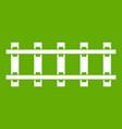 railway icon green vector image vector image