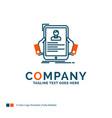 resume employee hiring hr profile logo design vector image vector image